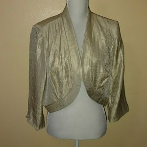 XL gold shimmer jacket by signature by Robbie bee